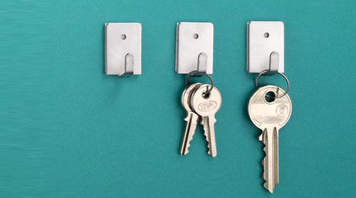 קולב נירוסטה להדבקה קולב מפתחות