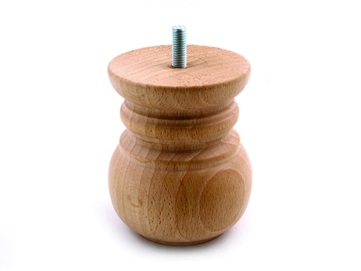 רגל עץ עגול מסוגנן