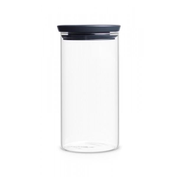קופסה זכוכית, מכסה שחור כהה 1.1 ליטר Brabantia