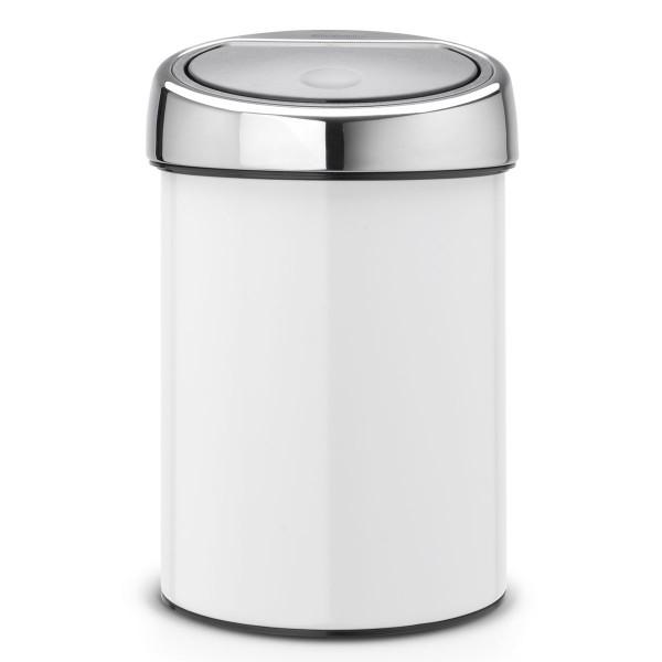 פח אשפה טאץ בין 3 ליטר לבן, כולל תליה Brabantia