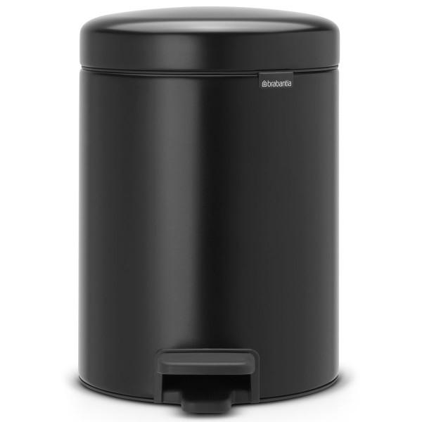 פח פדל 5 ליטר שחור מט Brabantia – NewIcon