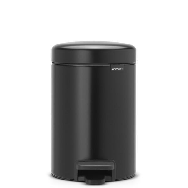 פח פדל 3 ליטר שחור מט Brabantia – NewIcon