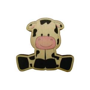 כפתור עץ פרה