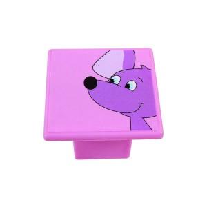 כפתור עכבר סגול על ורוד8045/36