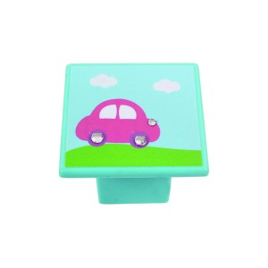 כפתור מכונית ורודה על תכלת 8045/36
