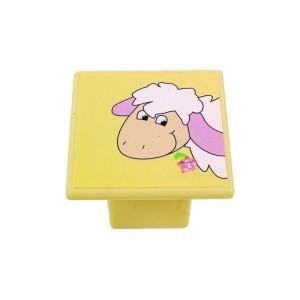 כפתור כבשה על צהוב 8045/36