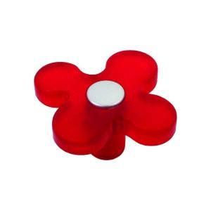 כפתור פרח אדום 8116/50