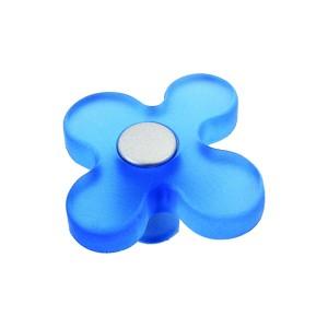 כפתור פרח כחול 8116/50
