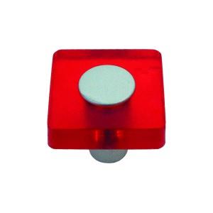 כפתור מרובע אדום דגם 8118/30