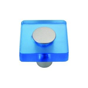 כפתור מרובע כחול דגם 8118/30