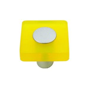 כפתור מרובע צהוב דגם 8118/30