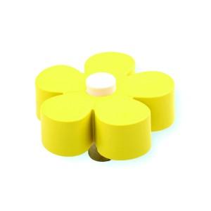 כפתור פרח צהוב – לבן