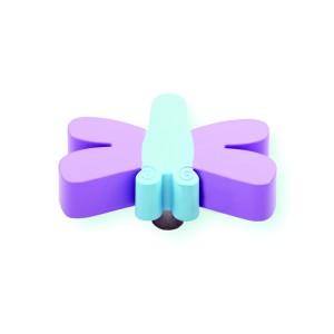כפתור שפירית סגול – תכלת