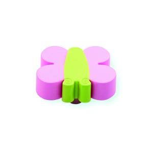 כפתור פרפר ירקרק – ורוד