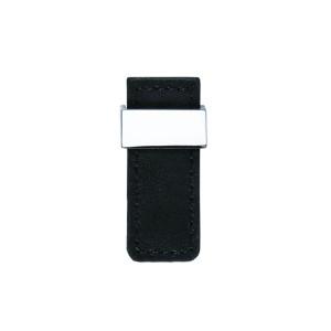 כפתור עור שחור דגם 24288 כרום