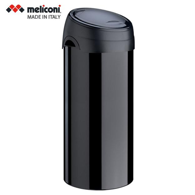 פח אשפה למבטח טאץ 40 ליטר עגול שחור MELICONI