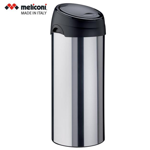 פח אשפה למטבח טאץ 40 ליטר עגול מוברש MELICONI