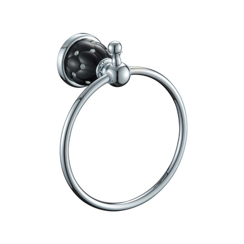 טבעת מגבת ניקל שחור DIAMOND