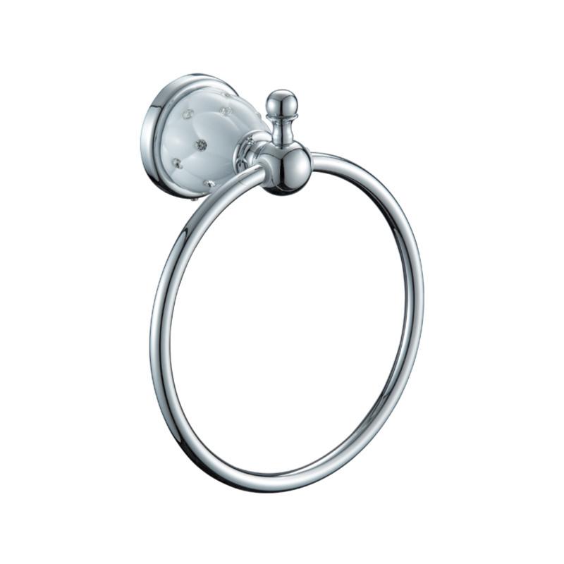 טבעת מגבת ניקל לבן DIAMOND