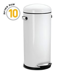 פח DLX רטרו לבן 30 ליטר CW1259