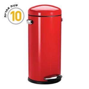 פח DLX רטרו אדום 30 ליטר CW1262