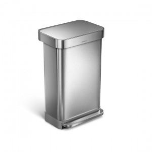 פח דוושה מלבני מאט – 45 ליטר
