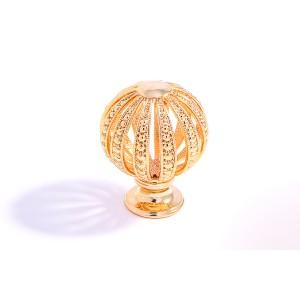כפתור עגול קטן זהב