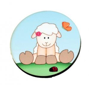 כפתור עגול כבשה TYD003