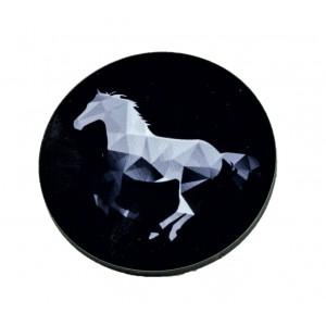 כפתור פוליגון שחור סוס TYD013