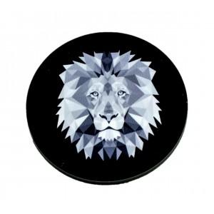 כפתור פוליגון שחור אריהYTD014