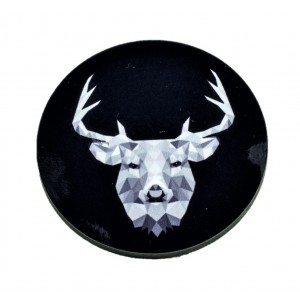 כפתור פוליגון שחור צבי TYD015