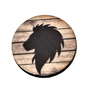 כפתור חיות צל ראש אריה TYD016