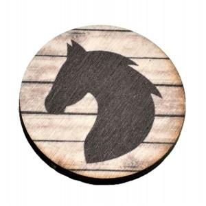 כפתור חיות צל ראש סוס TYD017