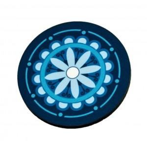 כפתור מנדלה רטר פרח כחול TYD111