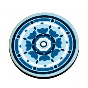 כפתור מנדלה רטרו כחול קנדה TYD116