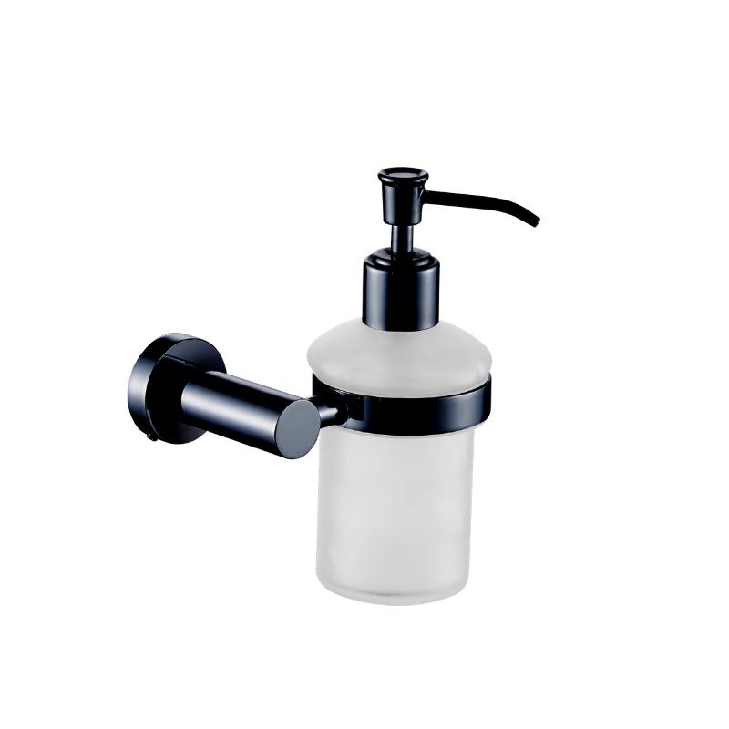מתקן לסבון נוזלי לקיר אמבטיה ROUND שחור מט