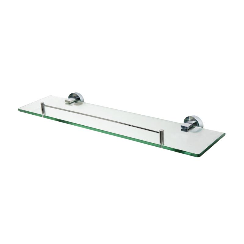 מדף זכוכית לאמבטיה 58 ס״מ זכוכית שקופה SL801
