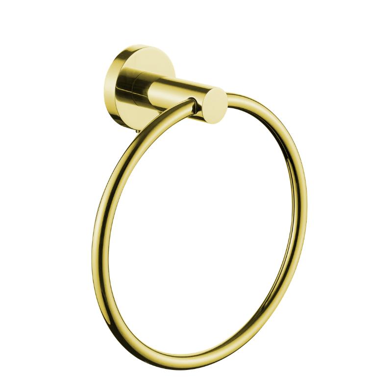 מתלה טבעת למגבת פנים ROUND זהב מט