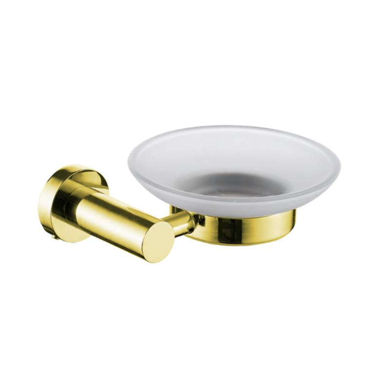 סבוניה לסבון מוצק תלויה ROUND זהב מט