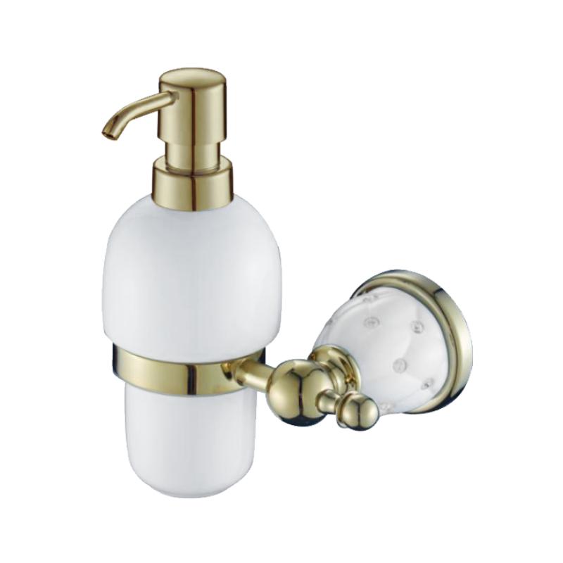 דיספנסר לסבון נוזלי זהב לבן DIAMOND