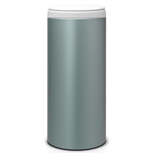 פח פליפ 30 ליטר מינט מטאלי / מכסה אפור בהיר Brabantia