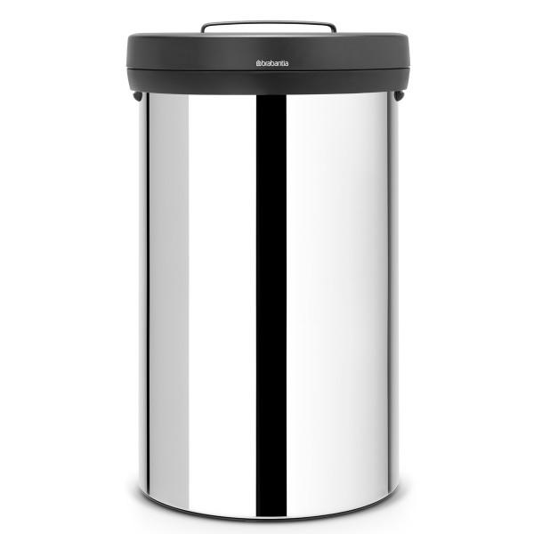 פח 60 ליטר BIG BIN מבריק / מכסה שחור Brabantia