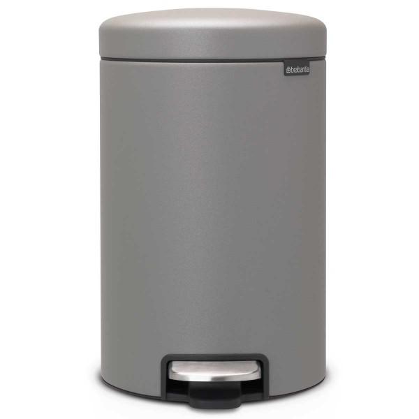 פח פדל 12 ליטר אפור בטון מינרלי Brabantia – NewIcon