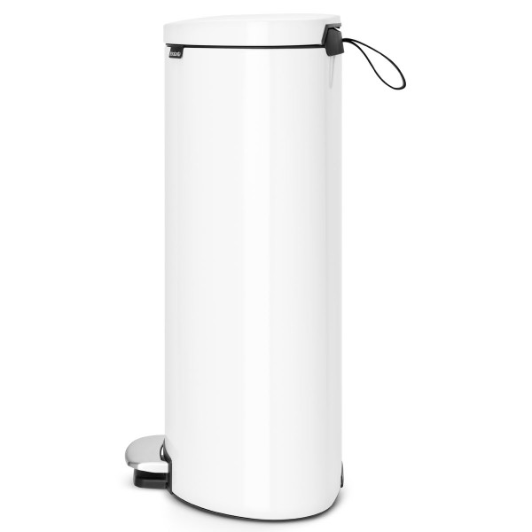 פח פדל אובלי – גב שטוח, 30 ליטר לבן Brabantia