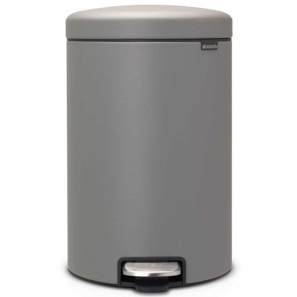 פח פדל 20 ליטר אפור בטון מינרלי Brabantia – NewIcon