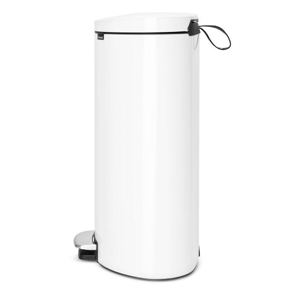 פח פדל אובלי – גב שטוח, 40 ליטר לבן Brabantia