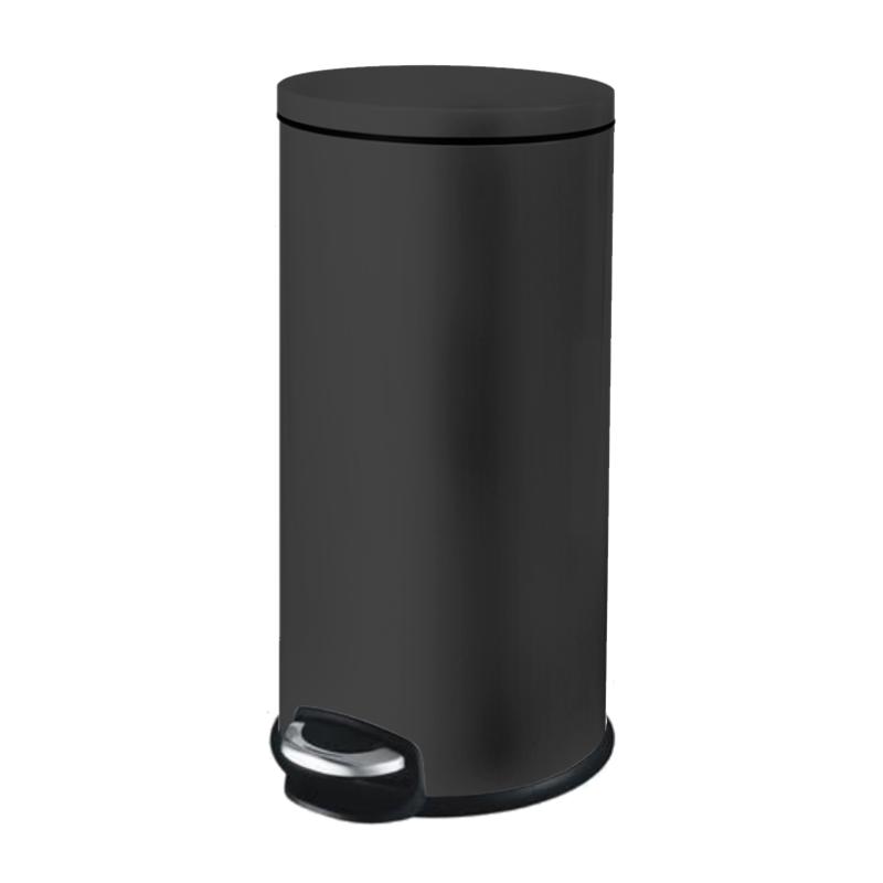 פח אשפה 30 ליטר JAVA עגול – שחור מט