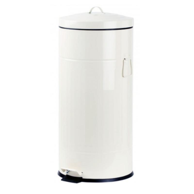 פח אשפה 30 ליטר רטרו – לבן