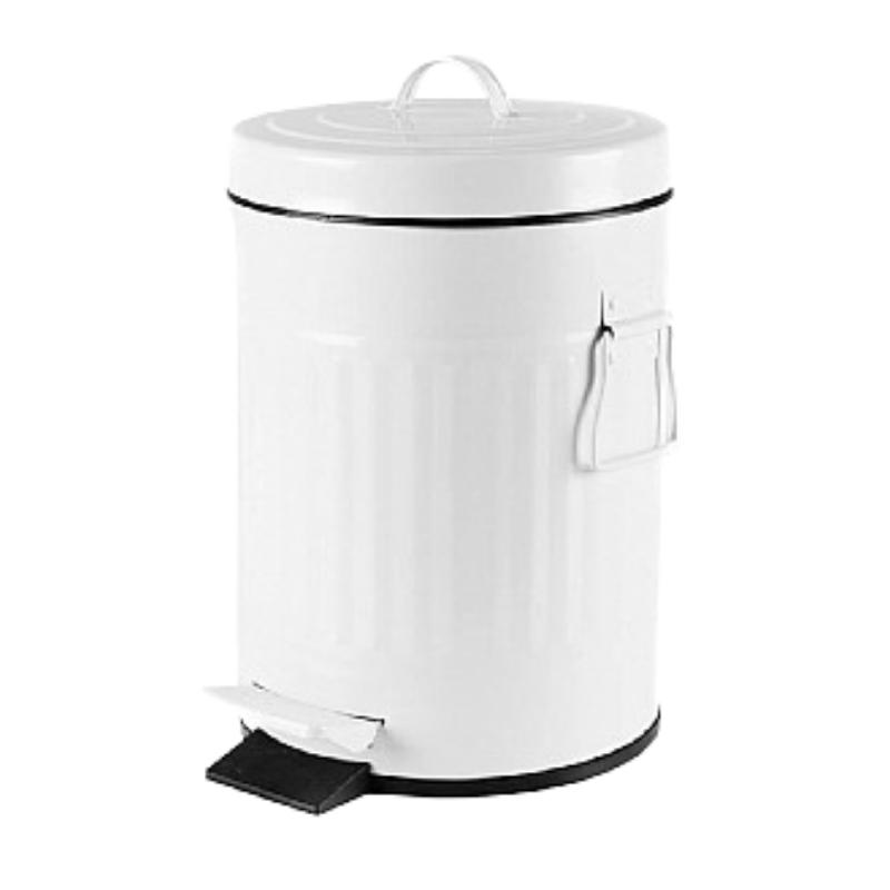 פח אשפה 20 ליטר רטרו – לבן