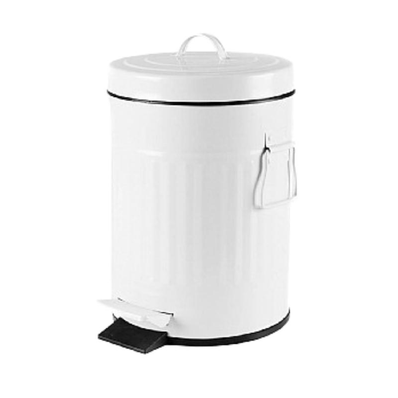 פח אשפה 3 ליטר רטרו – לבן